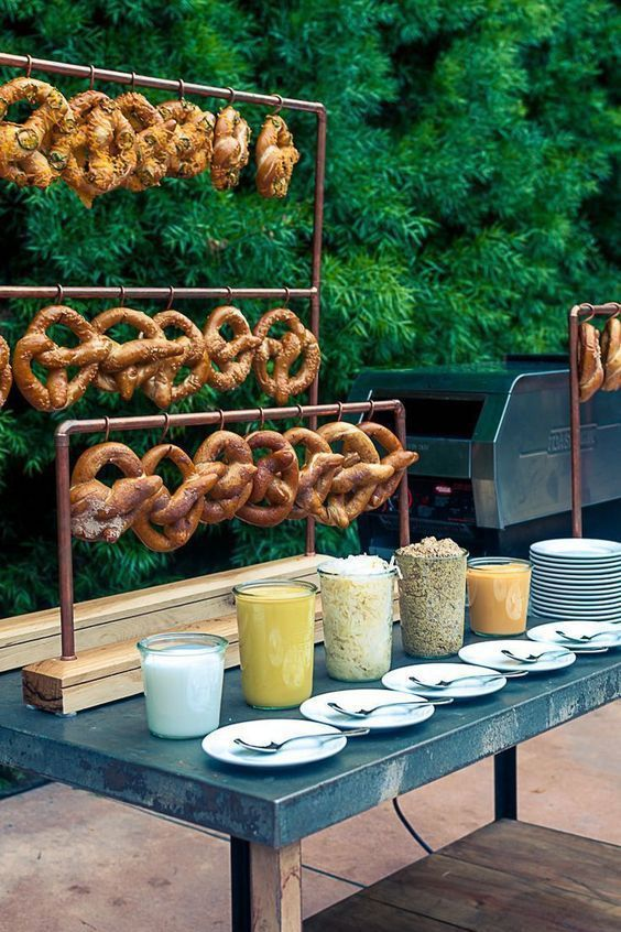 Interactivity is key at 2018 weddings. How about a pretzel bar?