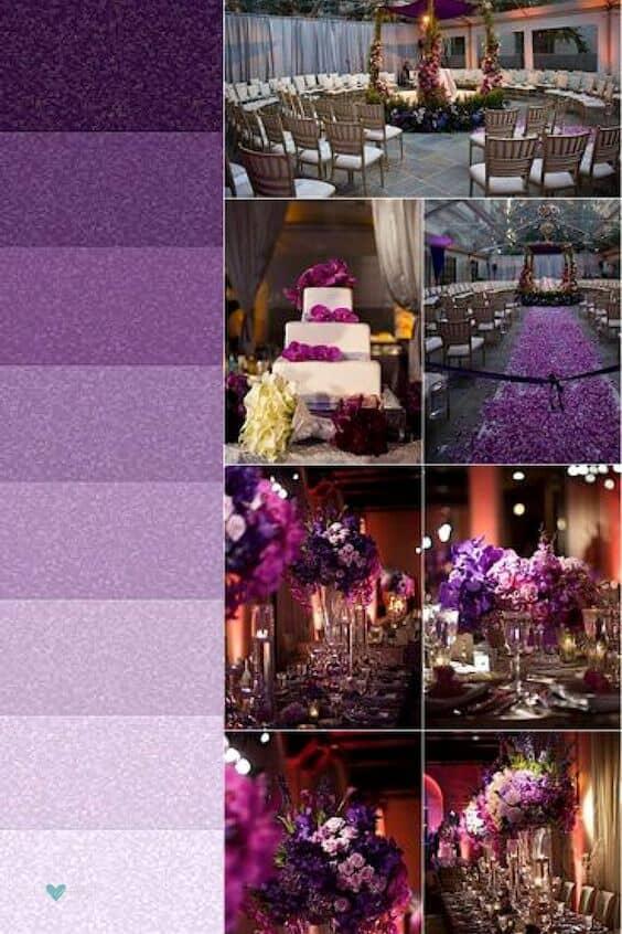 ¿Conoces todos los nombres de las tonalidades de violeta? Aquí van algunas. Boda en Washington DC.