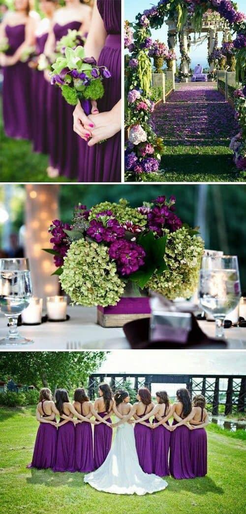 Ultravioleta, arcadia y verde lima. Una combinación de colores fresca, pura y sencilla.