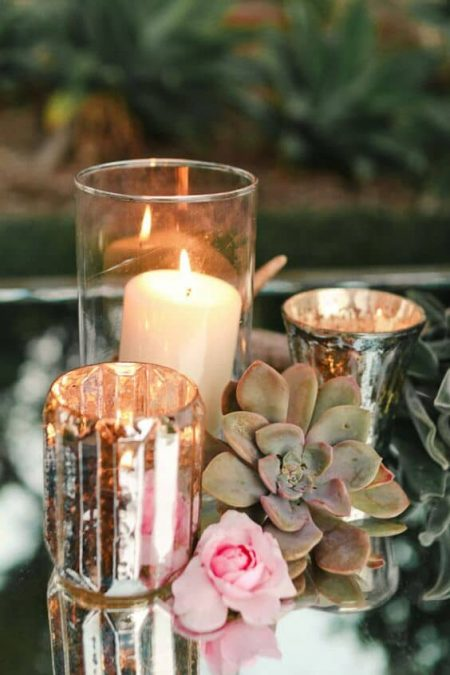 Boho folk weddings can leverage candlelight as well. Photography by stevesteinhardt.