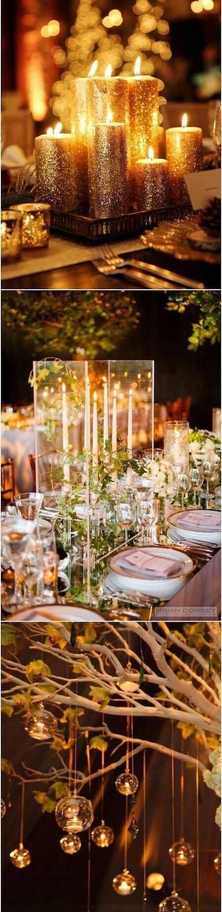 28 amazing wedding reception lighting ideas you can steal candle lighting ideas for your wedding junglespirit Gallery