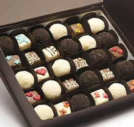 Chocolates personalizados para San Valentín.