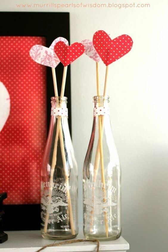 Una decoración con corazones sencilla y original de hacer.
