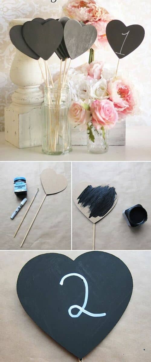 DIY wedding table number ideas.