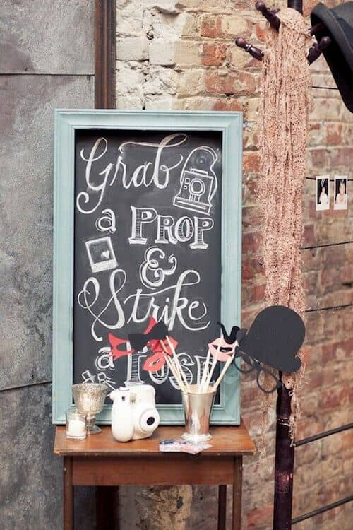 An adorable way to present your props for your photo booth. Brooklyn Winery, Williamsburg.