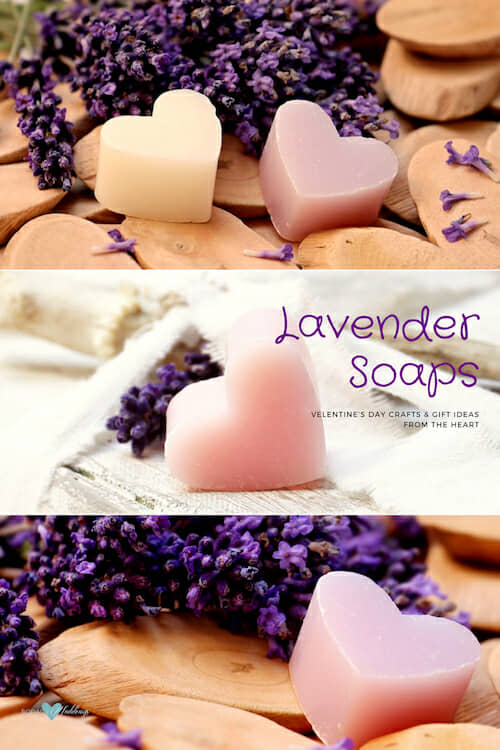 One of my favorite Valentine's day crafts: lavender soaps!