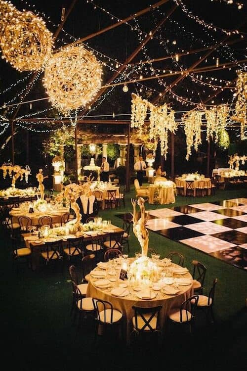 Creative ways to light your wedding reception.