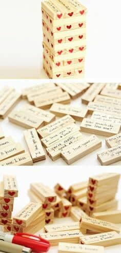 A love Jenga game for V-Day.