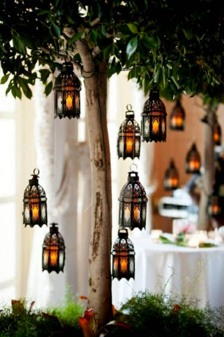 Not everything is string lights when decorating your wedding reception.