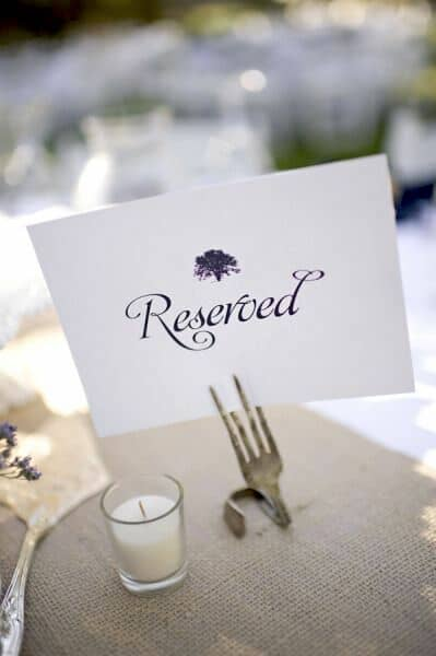 Original wedding table number ideas. Oak Tree Manor, Houston. Photo: Alyse French Photography.