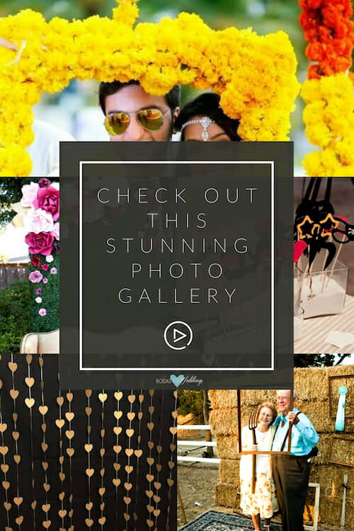 Check out this original wedding photo booth ideas gallery!