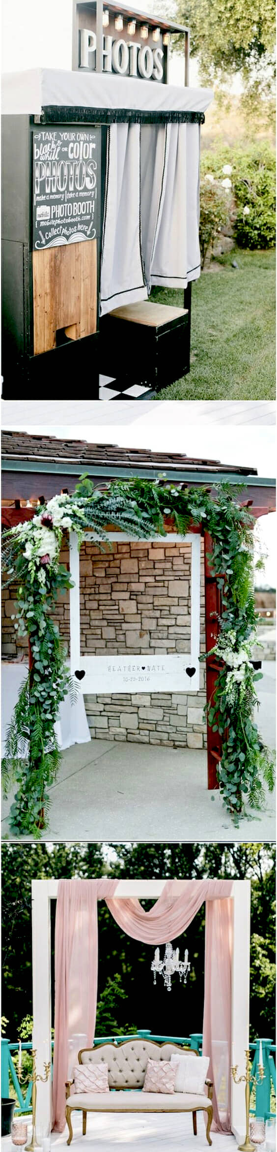 Unique wedding photo booth ideas.