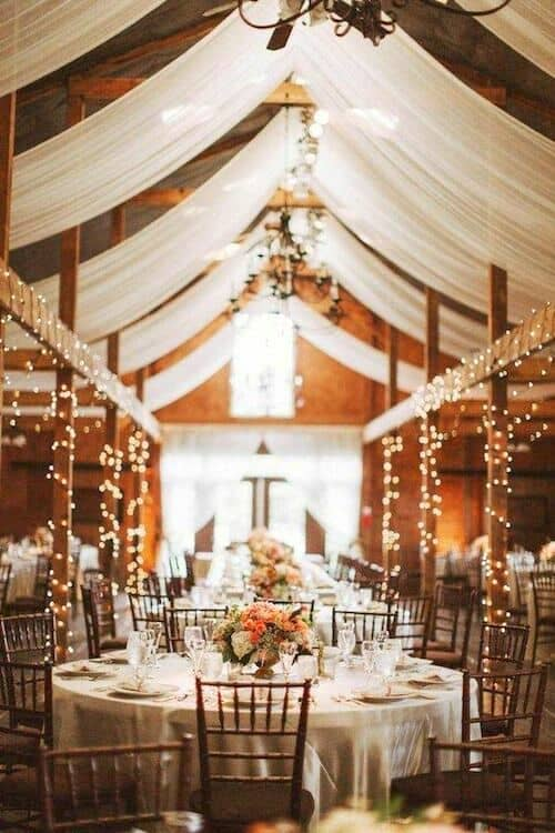 Cheerful wedding reception lighting ideas for a Virginia wedding. Nessa K Photography.