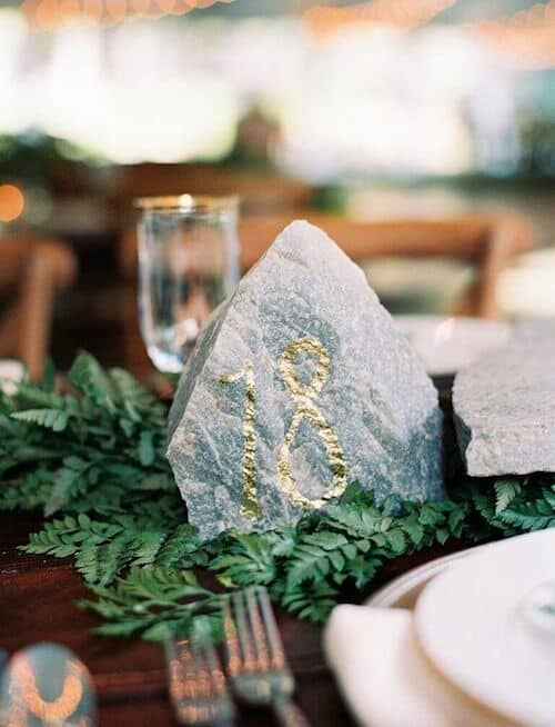 Wedding table number idea for a Utah wedding. Photo: Leo Patrone Photography.