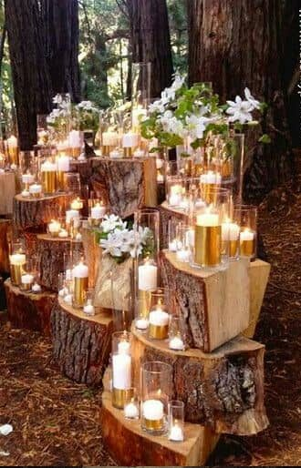 Steal-worthy lighting ideas for fairytale woodland weddings.