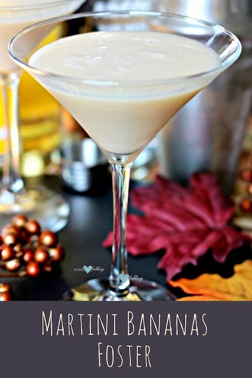 El Martini Bananas Foster es suave y cremoso y nos recuerda al clásico postre con su rico sabor a vainilla, plátano y caramelo.