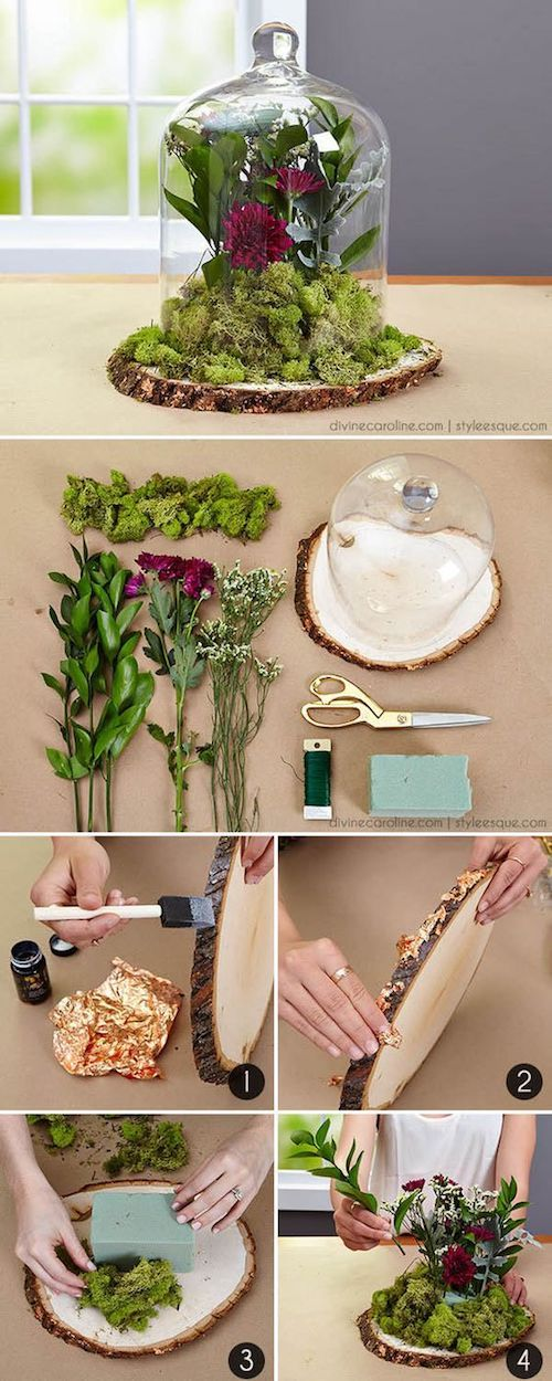 Centro de mesa floral para una boda temática Blancanieves paso a paso.