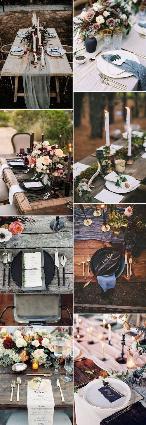 Ideas románticas de centros de mesa para bodas en jardín encantado.