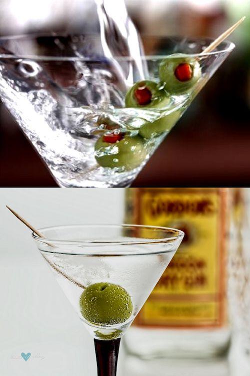 Descubre como preparar un martini sucio. Y mas recetas de martinis deliciosas y super glam.