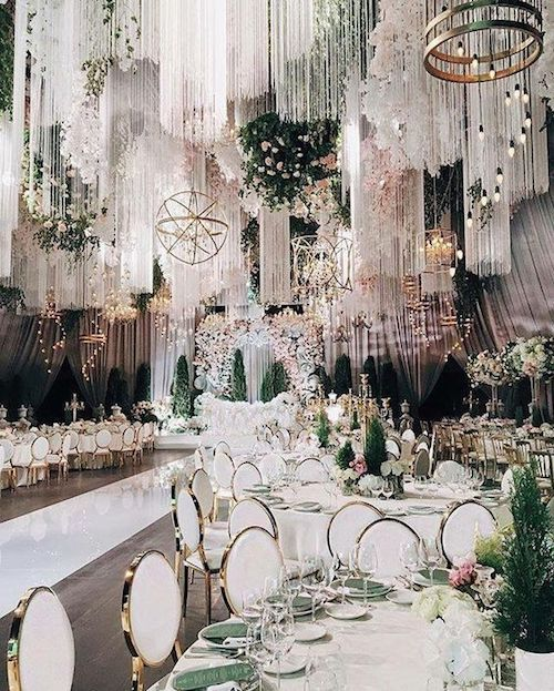 Dreamy fairytale wedding. Are you going all out on your wedding reception?