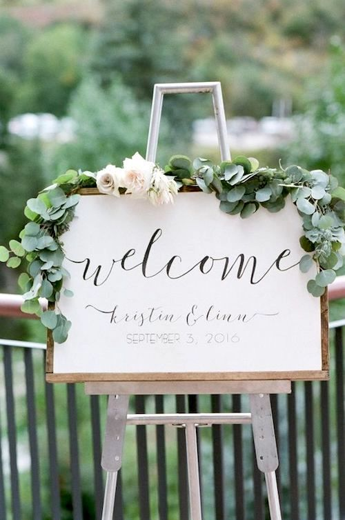 Garden weddings can also welcome their guests in style. Flowers by Lace and Lilies, Colorado.