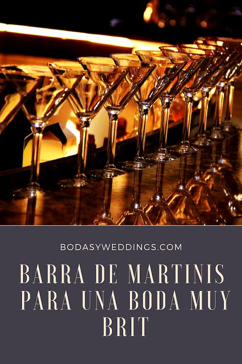 Super elegantes y muy Brit, los Martini bars te ayudarán a ahorrar en las bebidas de tu boda y presentar una alternativa mas divertida y glamorosa que la barra libre. No te pierdas estas recetas de Martinis!