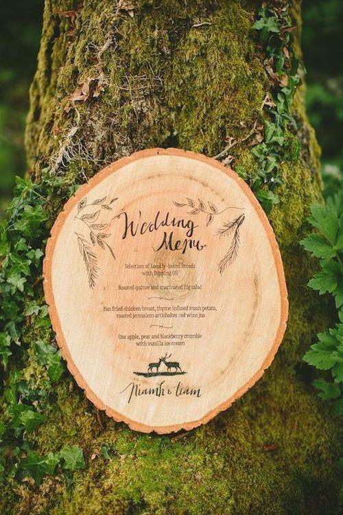 ¿Para que imprimir el menu de bodas si lo puedes grabar en madera?