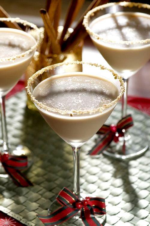 Ideas de Martini para una Boda en Otoño. Recetas de martinis de sabores: pastel de calabaza.
