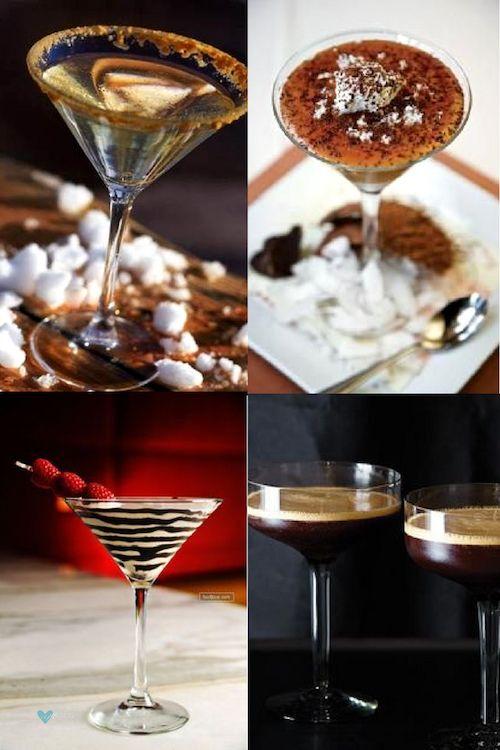 No te pierdas estas recetas de martinis y los sabores que son tendencia. Creme brulee martini, martini caramelo salado, Disney's Godiva Chocolate Martini, Espresso Martini.