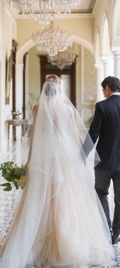 Increíble velo de novia.