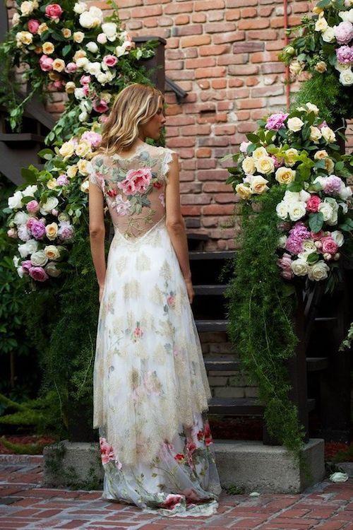 Tendencias en Vestidos de Novia. Vestido de novia alternativo, romántico y boho vintage.