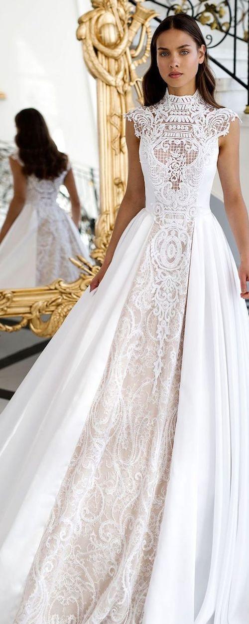 Vestido estilo princesa super romántico y boho con detalle de encaje y mucha estructura.