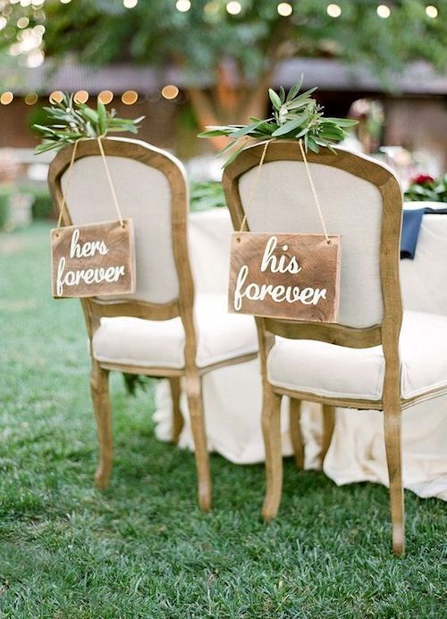 Romantic vintage style bride and groom chairs. Unless you are throwing a super big bash and budget is no object, those plus ones that you have never met do not have to make it into your wedding guest list.
