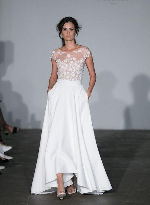 La colección nupcial de Rime Arodaky 2018 nos enamoró con estos vestidos perfectos para una novia rockera chic.