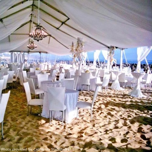 Intimate and impressive beach wedding reception. Photo courtesy: California State Parks.