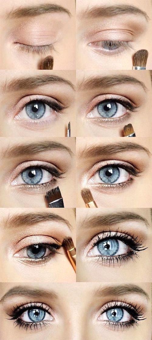 Cómo pintarse los ojos: un look romántico para novias.
