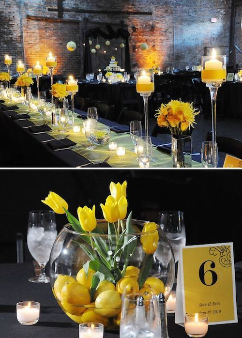 Lemon yellow wedding. Atlanta wedding at King Plow Arts Center by Picture This Photography.