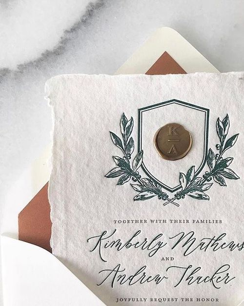 Bring in the old world elegance of monogrammed wedding stationery.