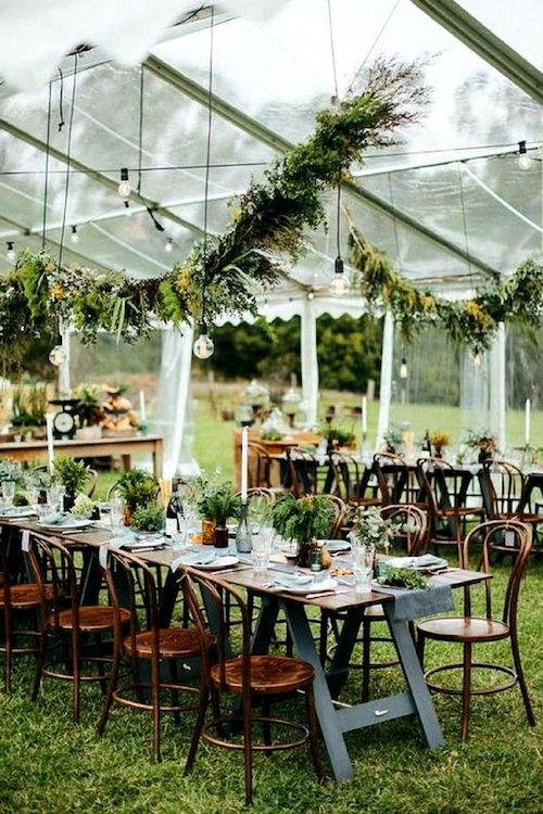 Rustic and flawless outdoor wedding tent decor ideas.
