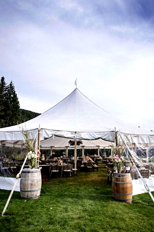 photo gallery  creative wedding tent decor ideas