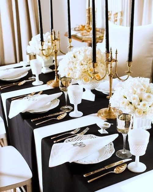 Table runners can add a modern luxury feel to your table setting.