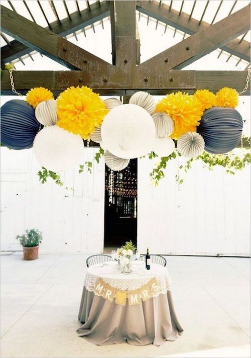 Paper lanterns are snatched for both indoor and outdoor wedding decor because they create that special fun and lit aesthetic. They are very easy to DIY, so you'll save part of your wedding budget with this inspo.