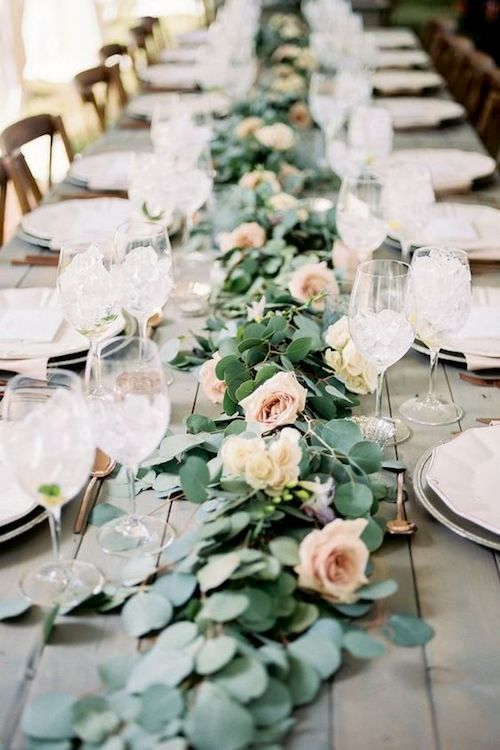 A perfect wedding runner for a vintage reception.