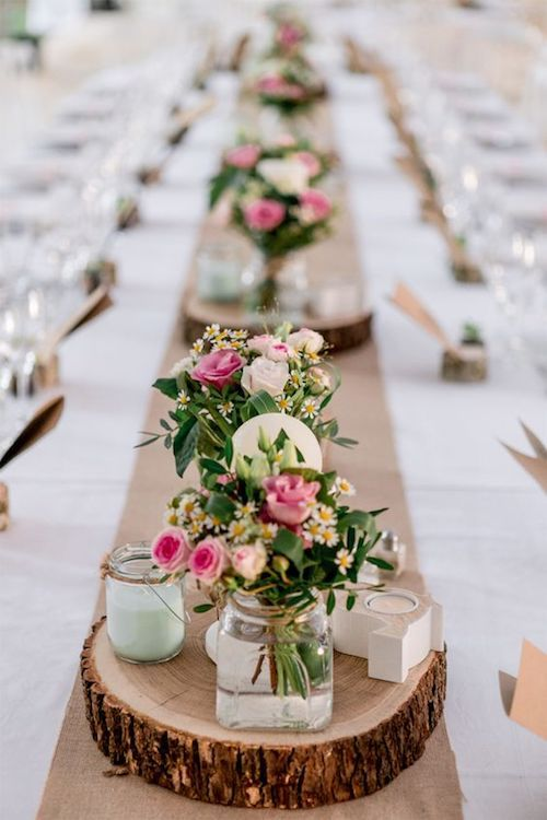 Wedding table runners will draw attention to your centerpieces at the reception.