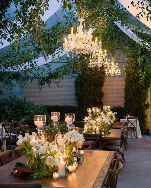 The things tent dreams are made of! Stunning wedding tent decor for the fall.