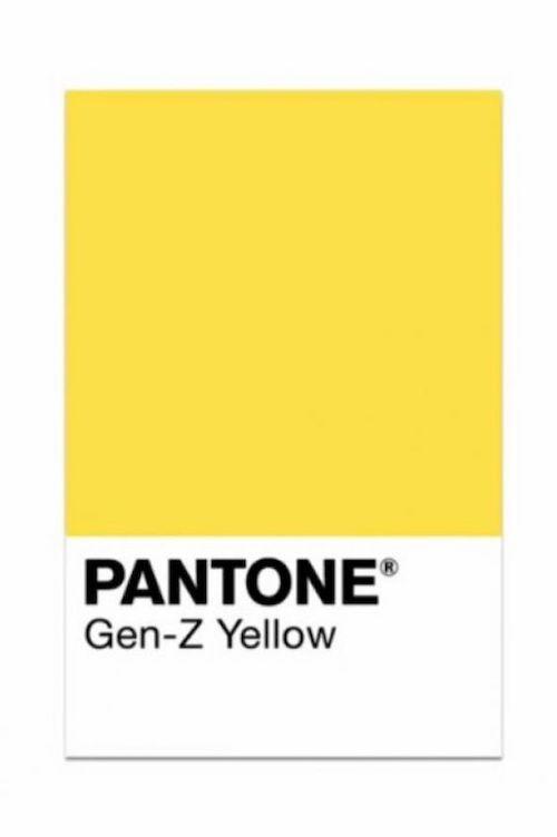 ¿Sabes que es el amarillo Gen Z? El tono amarillo que destronó al rosa Milenial.