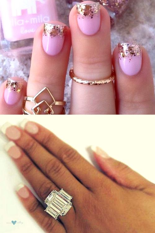 Fab french nail designs for weddings.