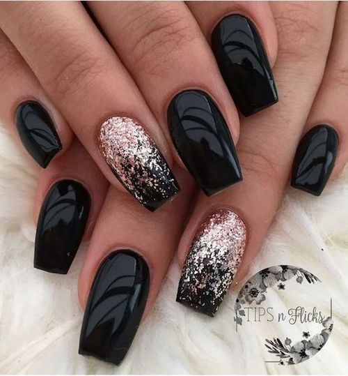 Dramatic and fierce, these gel coffin nail designs leave behind a trail of admires dripping with thirst by Tips n Flicks.