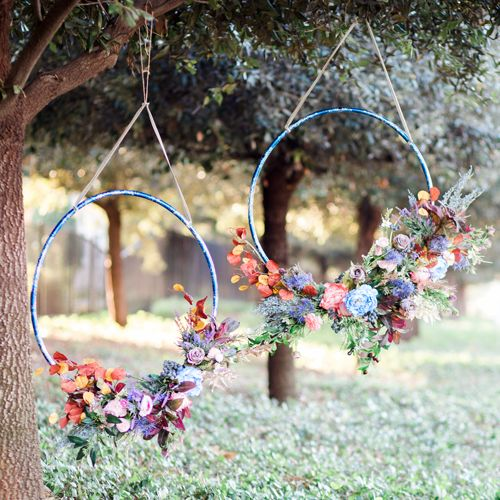 Get your bendable pipes and hola hoops ready because i can't even explain how sick these giant wedding wreaths are.
