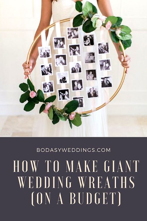 Another idea for hula hoop wreaths. Repurpose yours for an insta-worthy photo display.